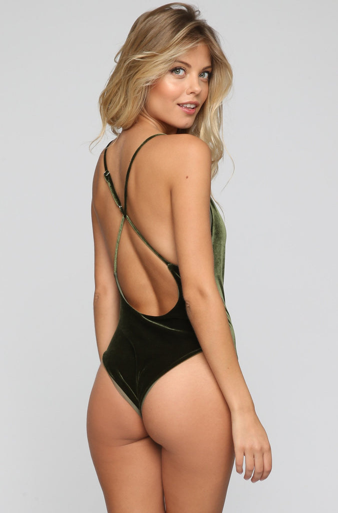 JYORK x DBRIE Jane Reversible One Piece in Velvet Emerald/Olive|ISHINE365 - 4