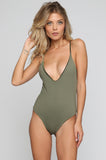 JYORK x DBRIE Jane Reversible One Piece in Velvet Emerald/Olive|ISHINE365 - 2