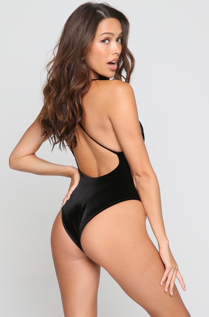 Jane One Piece in Velvet Noir