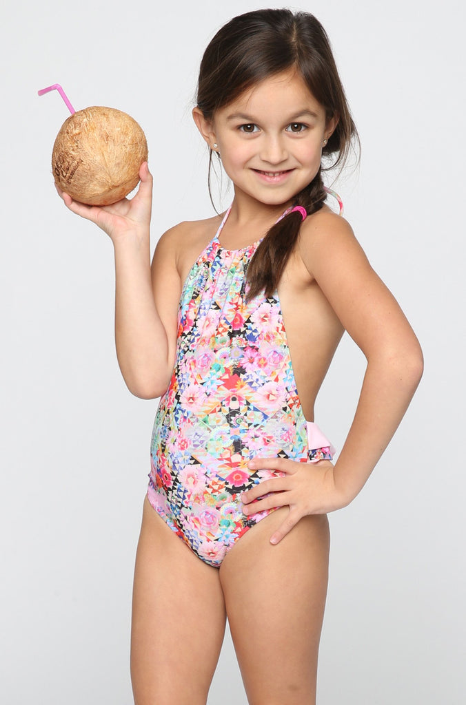 Kai Lani Mini Ruffle One Piece in Flower Bomb|ISHINE365 - 2