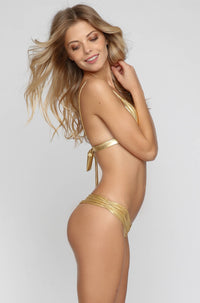 Bralet Bikini Top in Golden