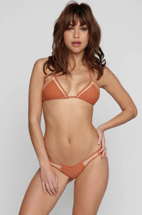 Mesh Bikini Bottom in Bronze