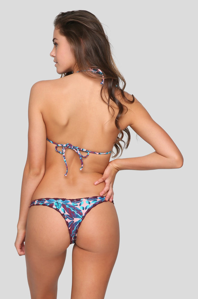 Hala Bikini Bottom in Rose Tapa