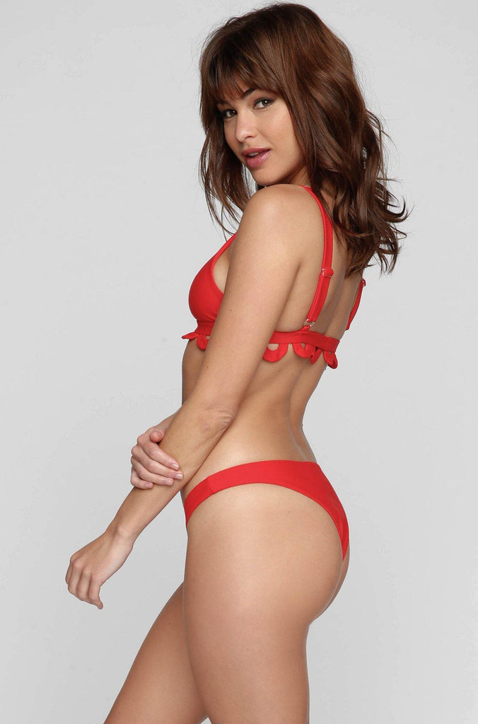 Mandalynn Swim *ISHINE365 EXCLUSIVE* Abbey Bikini Bottom in Cherry|ISHINE365 - 3