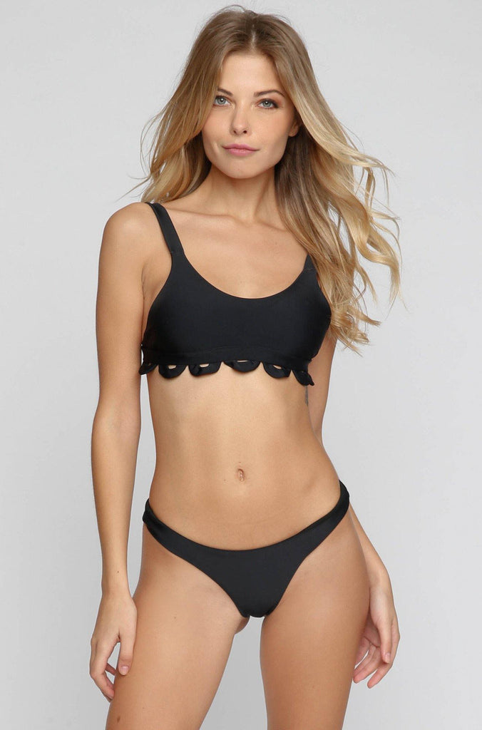 Mandalynn Swim Ali Bikini Top in Black|ISHINE365 - 4