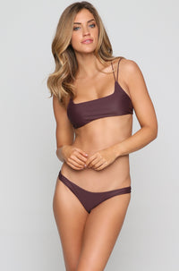 Lahaina Bikini Bottom in Wine