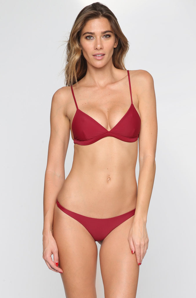 MIKOH SWIMWEAR 2016 Praia Bikini Bottom in Pomegranate|ISHINE365 - 4