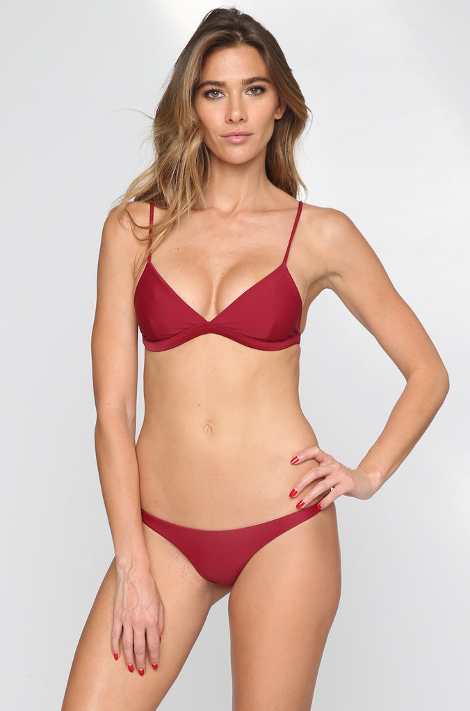 MIKOH SWIMWEAR 2016 Praia Bikini Bottom in Pomegranate|ISHINE365 - 2