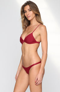 MIKOH SWIMWEAR 2016 Praia Bikini Bottom in Pomegranate|ISHINE365 - 5