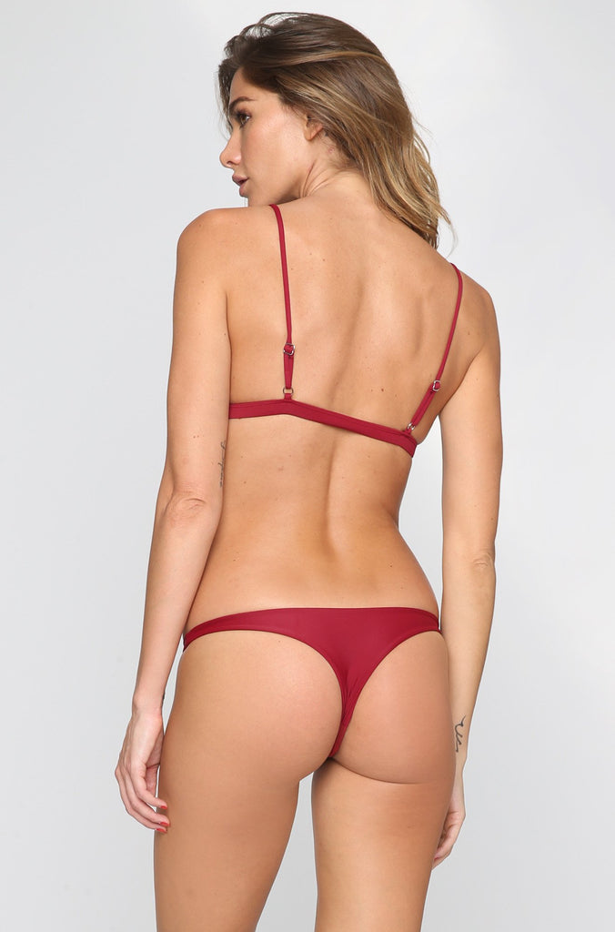 MIKOH SWIMWEAR 2016 Praia Bikini Bottom in Pomegranate|ISHINE365 - 3