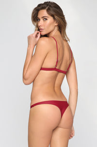 MIKOH SWIMWEAR 2016 Praia Bikini Bottom in Pomegranate|ISHINE365 - 1
