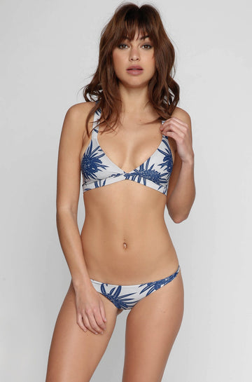 MIKOH SWIMWEAR 2016 Honolulu Bikini Top in Protea Coastal Blue|ISHINE365 - 1