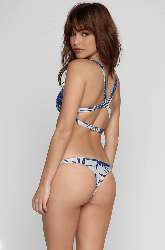 MIKOH SWIMWEAR 2016 Honolulu Bikini Top in Protea Coastal Blue|ISHINE365 - 2