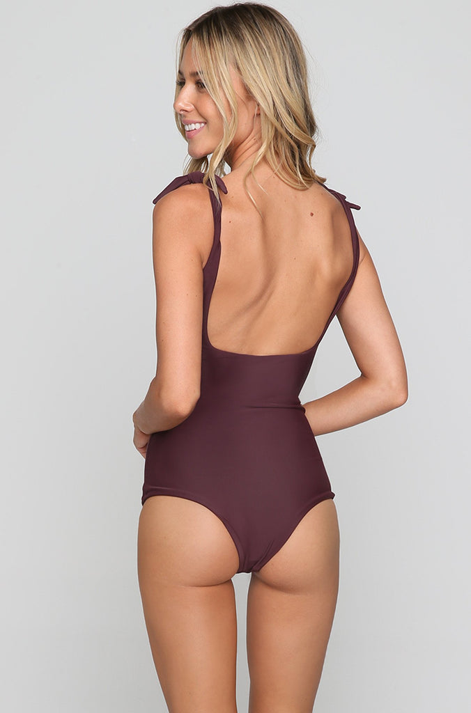 Pupukea One Piece in Wine