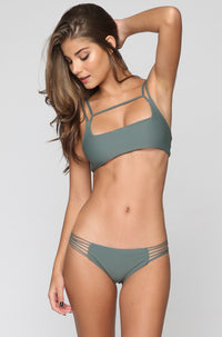 MIKOH SWIMWEAR 2016 Kapalua Bikini Bottom in Army|ISHINE365 - 3