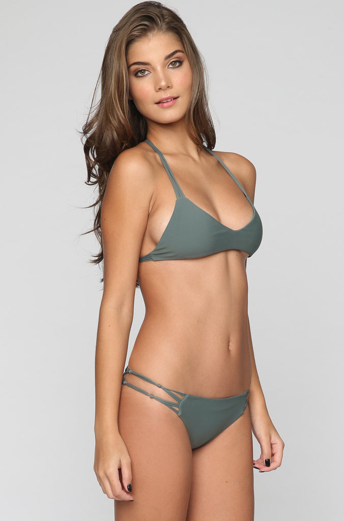 MIKOH SWIMWEAR 2016 Molokai Bikini Bottom in Army|ISHINE365 - 6
