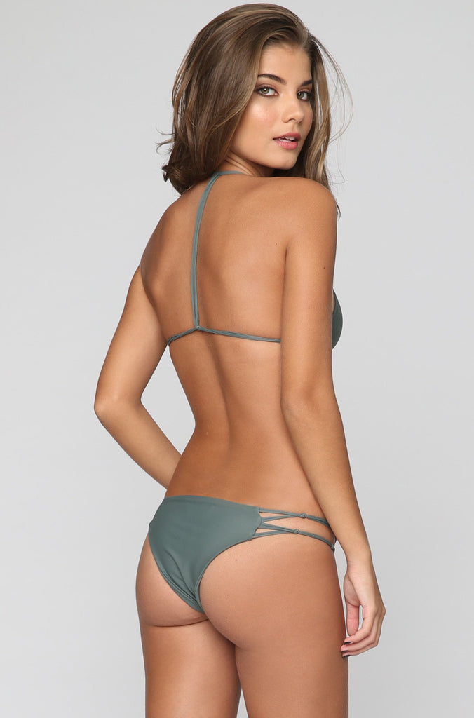 MIKOH SWIMWEAR 2016 Molokai Bikini Bottom in Army|ISHINE365 - 9