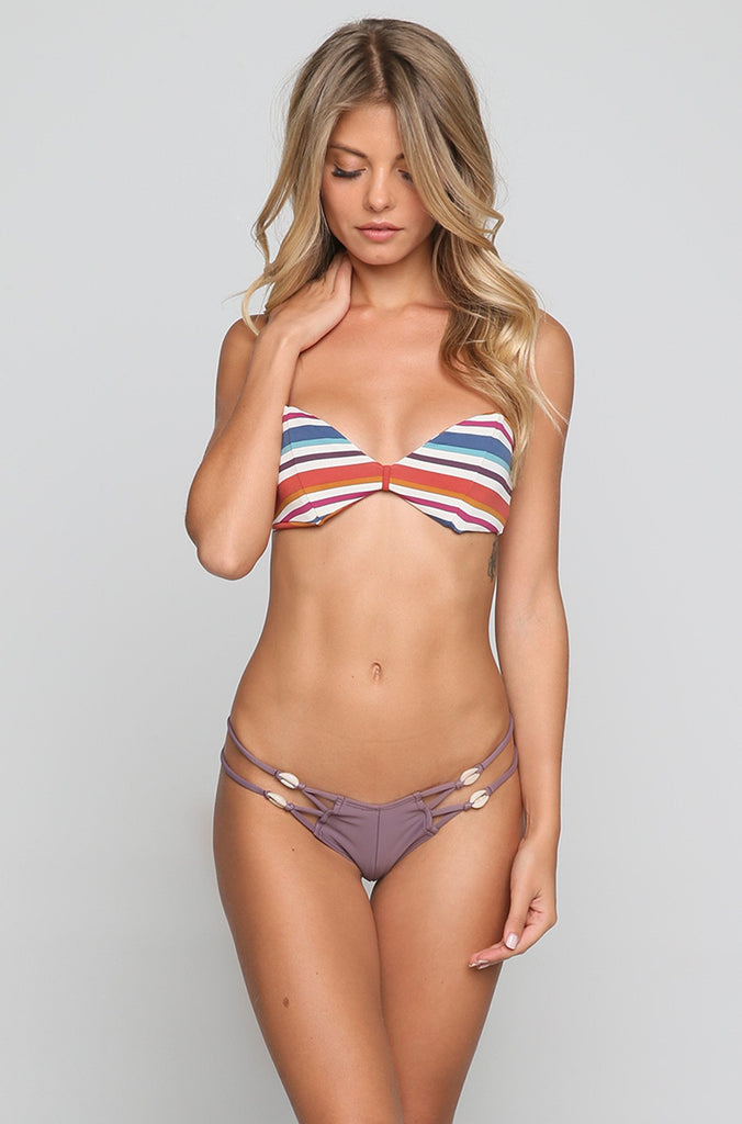 Bellini Bikini Top in 70's Stripe