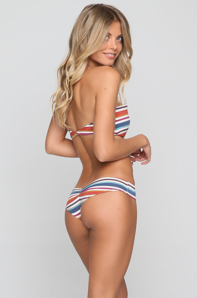 Nu Micro Bikini Bottom in 70's Stripe