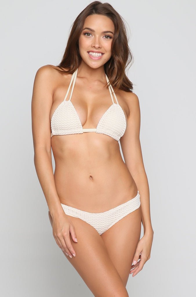 Crochet Nu Micro Bikini Bottom in Bone