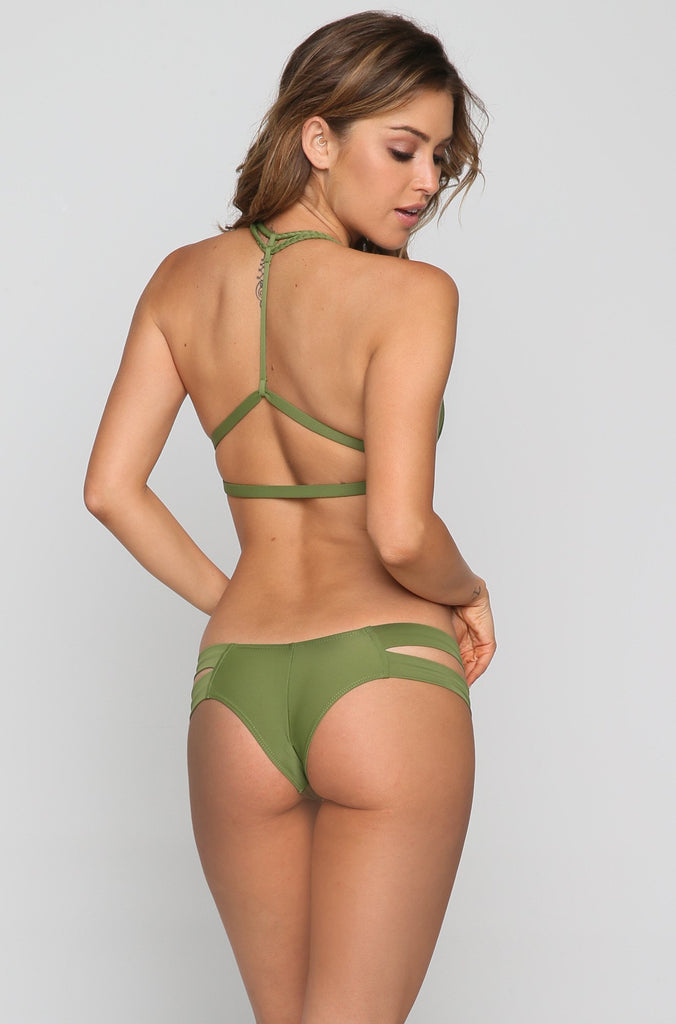 Braided Bikini T-top in Olive