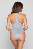 Suede Denise Austin One Piece in Grey