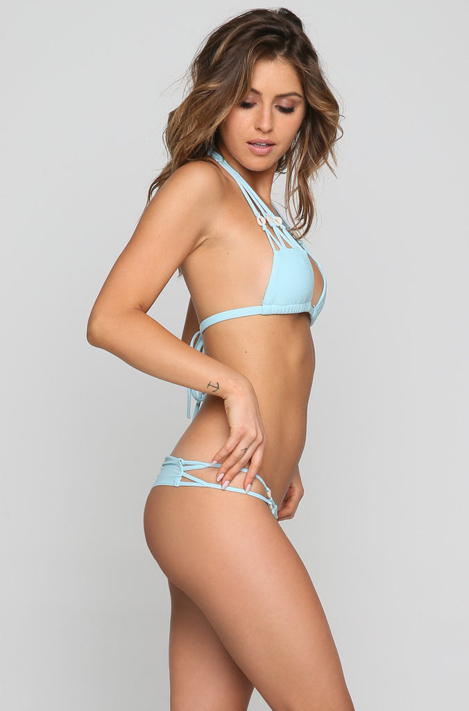 SYD Shells Bikini Top in Baby Blue