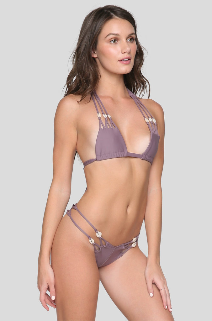 SYD Shells Bikini Bottom in Mauve