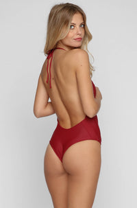 MIKOH SWIMWEAR 2016 Hinano One Piece in Pomegranate|ISHINE365 - 3
