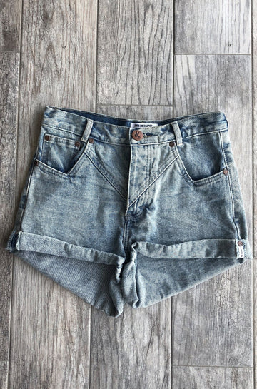 Hawks Denim Shorts in Romance