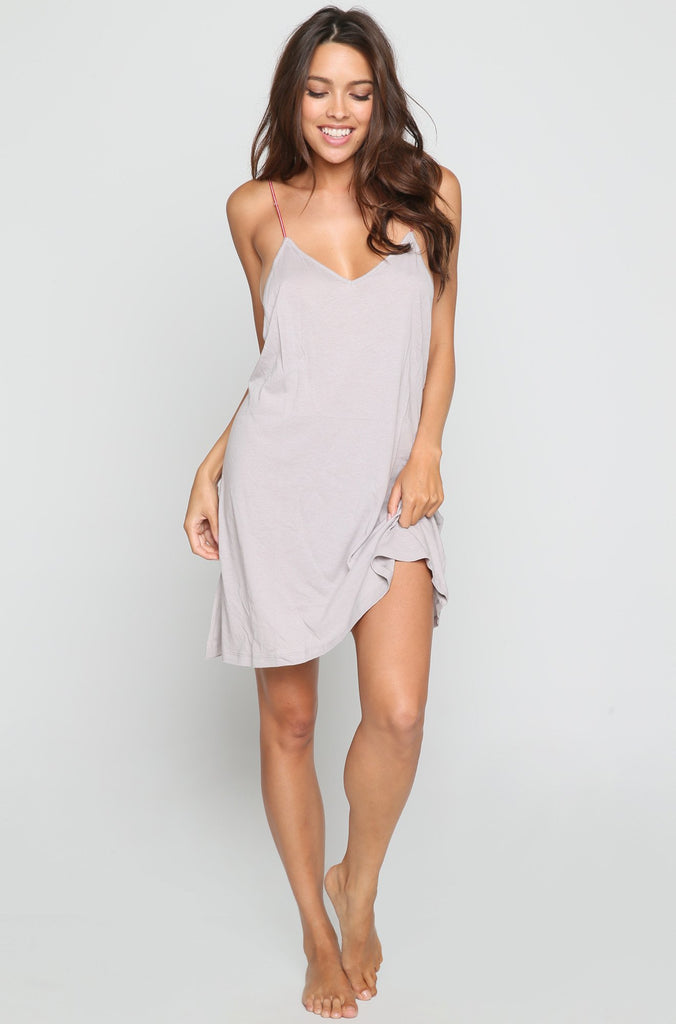 Little Beaded Mini Dress in Grey