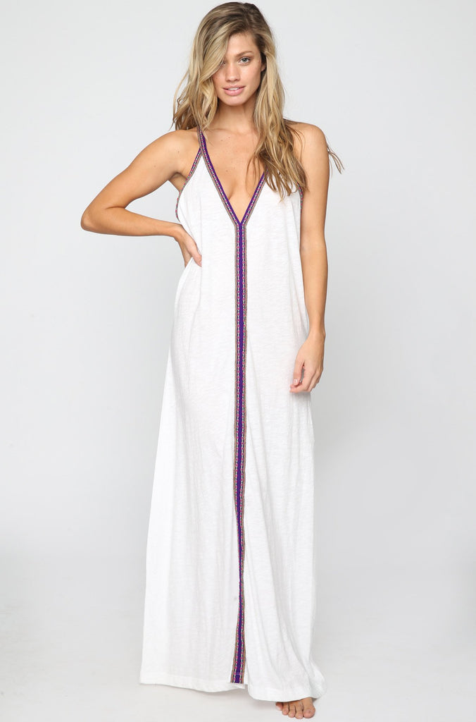 Pitusa Pima Sun Maxi Dress in White|ISHINE365 - 3