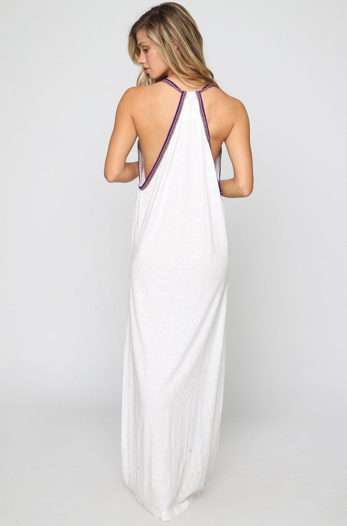 Pima Sun Maxi Dress in White