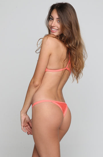 Posh Pua Kainalu Crochet Bikini Bottom in Papaya|ISHINE365 - 1