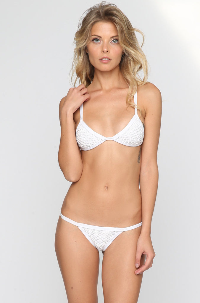 Posh Pua Kainalu Crochet Bikini Bottom in Bright White|ISHINE365 - 3