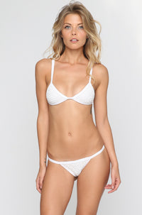 Posh Pua Kainalu Crochet Bikini Bottom in Bright White|ISHINE365 - 4