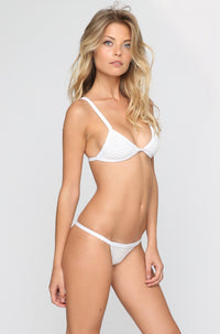 Posh Pua Kainalu Crochet Bikini Bottom in Bright White|ISHINE365 - 2