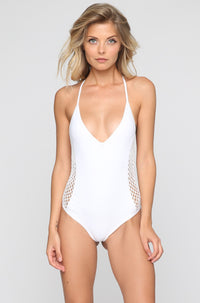 Posh Pua Pa'akai One Piece in Bright White|ISHINE365 - 3