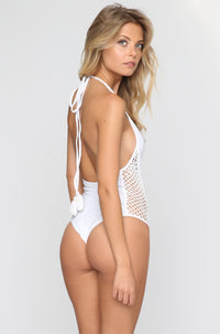 Posh Pua Pa'akai One Piece in Bright White|ISHINE365 - 4