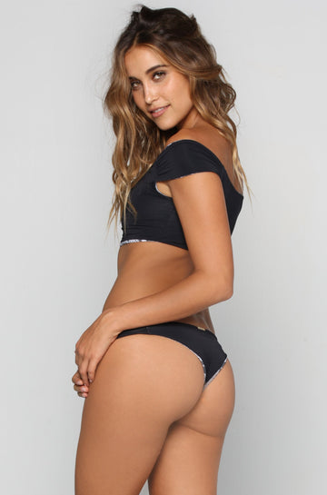 San Lorenzo Bikinis Crop Hipster Bottom in Onyx|ISHINE365 - 1
