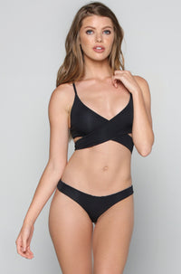 San Lorenzo Bikinis Caged Thong Bottom in Onyx|ISHINE365 - 4