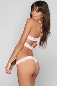 San Lorenzo Bikinis Caged Thong Bottom in Pink Quartz|ISHINE365 - 1