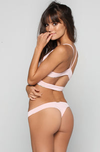 San Lorenzo Bikinis Caged Thong Bottom in Pink Quartz|ISHINE365 - 4
