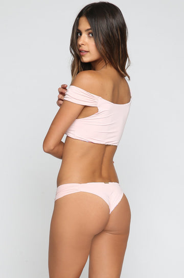 San Lorenzo Bikinis Crop Hipster Bottom in Pink Quartz|ISHINE365 - 1