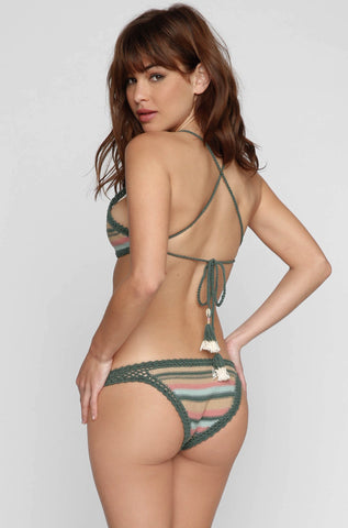 Dhari Bikini Bottom in Emerald