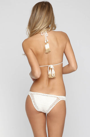 Open Halter Bikini Top in Natural