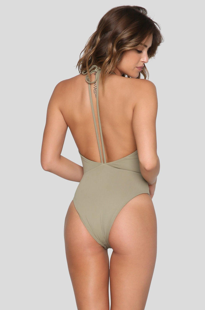 *ISHINE EXCLUSIVE* Trestles One Piece in Olive You