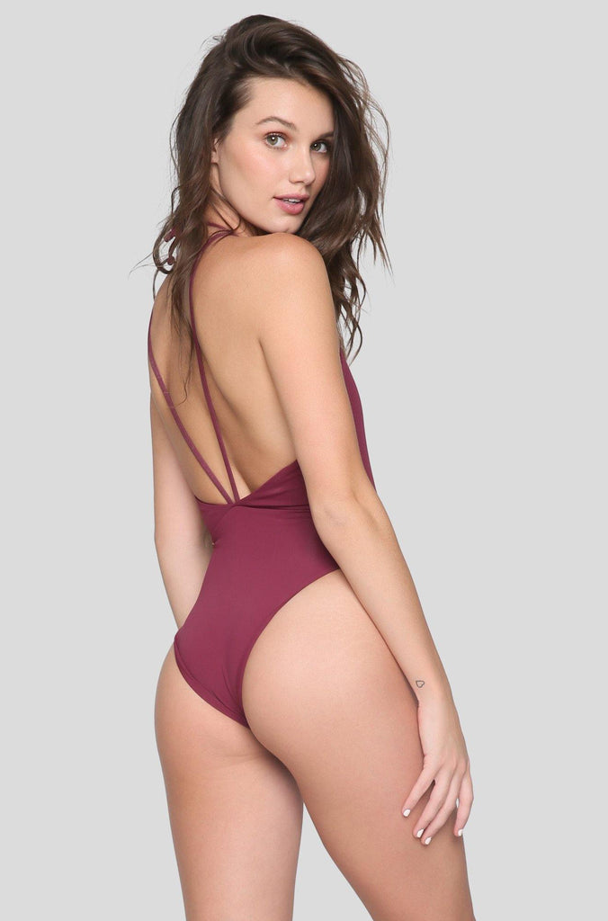 *ISHINE EXCLUSIVE* Trestles One Piece in Wine Not
