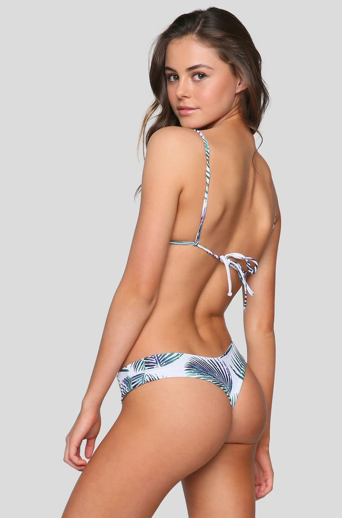 Tucker Bikini Bottom in Petroleaf