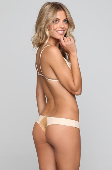 Stone Fox Swim Byron Bikini Bottom in Bare Naked Block|ISHINE365 - 1